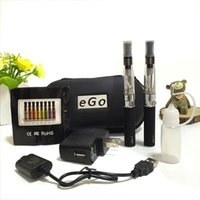 Wholesale Electronic Cigarette Smoking T - Ego-t double starter kits electronic cigarette ego CE4 510 battery e cigarette vape pen vaporizer for e liquid ce4 tank smoking vape mod