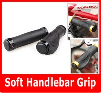Wholesale Handle Grips For Bicycles - New Skid-proof Soft Handlebar Grip Cover For Mountain Cycling Bike road Bicycle handle 5Colors 2PCS Pair High Quality.