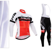 Wholesale Cycling Kits Long - Hot style 2015 male cycling clothing Winter Thermal Fleece cycling jersey long sleeve cycling jerseys+bib pants tights Bicycle Long kits