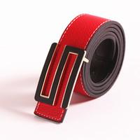 Wholesale S Shape Buckle Belt - Unisex Metal Buckle Cowskin Belt Fashion Men Casual Buckle Belt Faux Leather Fashion for Women,S Shape
