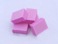 bloco de lixamento de buffer rosa venda por atacado-Atacado-tampas de unhas 100 PÇS / LOTE mini rosa bloco de lixamento esmeril placa de ferramentas para unhas nail art cuidados de unhas