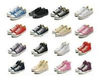 Wholesale Korean Shoes Pink - 2018 new South Korean men's casual shoes, men's shoes, solid color canvas shoes 13 color couples shoes size 35-45 comfortable women's shoes
