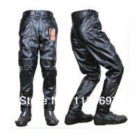 Wholesale Motorbike Waterproof Pants - Wholesale-windproof waterproof DUHAN PU leather sport pants Motocross racing motorcycle motorbike off-road pants MOTO MTB riding trousers