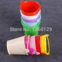 Wholesale Kegs Wholesale Shipping - Wholesale- E74 S111 Free Shipping 10 x Mini Cute Chocolate Candy Bucket Keg DIY Wedding Party Favors New free shipping
