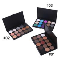 Wholesale Shadow Colors For Green Eyes - Hot fashion 15 Color Matte Pigment Eyeshadow Palette Cosmetic Makeup Eye Shadow Palette for women free shipping