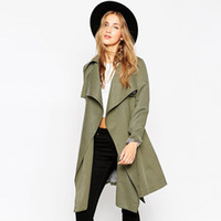 Wholesale women s cape coats - Spring Trench Coat For Women 2016 Fashion Women Raincoat With Belt Plus Size Slim Outwear Women Coat Top Quality Outfits Cape XL
