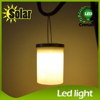 Wholesale Solar Hanging Lights Garden Wholesale - LED Sloar Light Solar Power Hanging Cylinder Lanterns Outdoor Stainless Steel Solar Lights Outdoor Garden Light Night Llight Waterproof Lamp