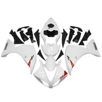 yamaha yzf r1 beyaz perdeler toptan satış-Yamaha YZF-R1 2009 2010 2012 ABS plastik kaporta kiti Beyaz Motosiklet
