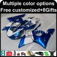 Wholesale R6 Cowl - 23colors+8Gifts BLUE motorcycle cowl for Yamaha YZF-R6 1998-2002 98 99 00 91 92 YZFR6 1998 1999 2000 2001 2002 ABS Plastic Fairing