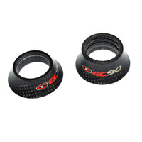 Wholesale Bike Washers - EC90 carbon fiber bicycle parts headset spacer mtb bike washer top cap road cycling fork cover 1 1 8'' 10 15 20 25 30 40mm