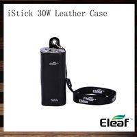 ecig cases leder großhandel-Eleaf iStick 30W Ledertasche iStick eCig Carry Case Halskette Tasche eGo Lanyard Für iStick 30W Mod Batterie 100% Original