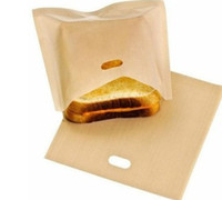 Wholesale sandwiches bags - Reusable Toaster Bags Grilling Bag Non FUSS-NO MESS BBC Microwave Oven Bag Not Sticky Toast Toastabags Make A Perfect Toasted Sandwich