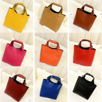 Wholesale Celebrity Hobo - Wholesale-Simple Tote Celebrity PU Leather Hobo Vintage Shoulder Shopper Bag Women's Handbag