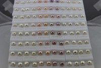 Wholesale 925 Freshwater Pearl Stud Earrings - 2016 new Fashion Jewelry Pearl Earrings Freshwater Pearl 925 Silver Earring 5~6MM Mix Color 100Pairs  lot