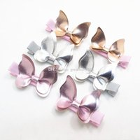 Wholesale butterfly accessories sales online - Xmas INS Baby Hair clips Butterfly PU Barrettes girl Bow Hair accessories baby gifts Fashion Hot sale Boutique C3151
