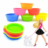 Wholesale Bowl Dog Designs - Wholesale-2015 Newest Design environmental protection silicone folding dog go out portable pet bowl Free shipping