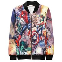 spider coats women - Fall YNM d classic anime Spider Man cosplay baseball jacket harajuku zipper long sleeve tops clothes men women casual sprot coat