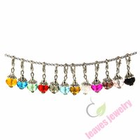 Wholesale Memory Locket Dangles - free shipping new fashion trendy pendant sex 10mm Crystal Dangle Charms...Great for charm bracelets, floating memory lockets,oval link chain
