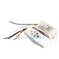 Wholesale Wireless Lamp Way - 220-240V Wireless 3 Ways On Off Remote Controller Digital Remote Control Switch for LED Light Lamp #1JT A5