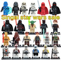 Wholesale SALE hot Star wars Yoda Stormtrooper Darth Vader C3P0 Chewbacca Building Blocks Model Bricks Toys without box