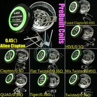 vorbau draht großhandel-Alien Fused Clapton Flache Mischung Twisted Hive Quad Tiger 9 Arten Pre Build Spulen Heizwiderstand Drähte Dampf RDA vorgefertigten Zerstäuber DHL frei