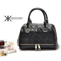 Wholesale Sling Satchel Bag - New 2015 high quality handbags Kim Kardashian Kollection handbag kk plaid rivet shoulder bag sling messenger bags Bolsa satchels