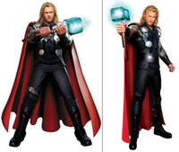 Wholesale Super Man Costume Party - The Thor Odinson Cosplay Costume The Avengers Tight Muscle Super Hero Costume Halloween Party Custom Make Any Size Dropshipping