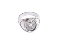 configurações do anel de prata em branco venda por atacado-10 PCS Antiqued Base de Prata Anel Anular Ajustes 14x10mm # 91314