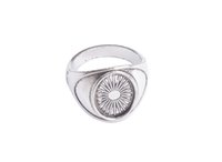 Wholesale Rhodium Plated Silver Ring Blanks - 10 PCS Antiqued Silver Base Ring Blank Settings 14x10mm #91314