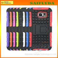Wholesale Galaxy S4 Skin - for Samsung Galaxy S5 S4 S6 Hybrid Case,Shock Proof Heavy Duty Armor Cases Skin Cover for iPhone6 6G 6+ Plus 5.5 4 5 5S Mini Note 3 IP6C15