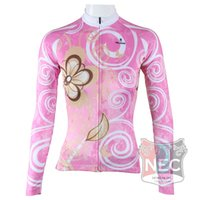 Wholesale Clothes Drying Tree - #327 Pink Tree Special design Cycling jersey Women's Long Sleeve Quick Dry Cycling clothing Plus Size maillot ciclo jersey Bike outfit