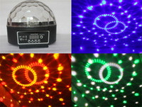 Wholesale Mini Voice activated Disco DJ Stage Lighting LED Stage Lighting RGB Crystal Magic Ball CH DMX light W KTV Party