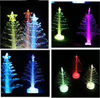 Wholesale Crystal Christmas Tree Decorations - 2016 Colorful Christmas Tree LED Flash Night Light bar party celebration props Christmas Decorations Flashing Gift Crystal Night lamp 10pcs
