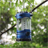 Wholesale 12 Led Camping Lanterns - Portable Lanterns Camping Lantern Outdoor Led Hiking Camping Light 12 LED Lantern Outdoor Tent Portable Emergency Lamp With Compass