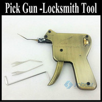 Wholesale Locksmith Tool Manual Pick Gun open most word lock unclock kit both sides of the tooth car locks Up Force