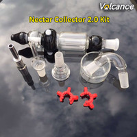 colector de cenizas vaporizador al por mayor-14 mm Kit de colector de néctar 2.0 con empaque individual Puntas de cuarzo Punta de titanio Pipa para fumar agua Bong Cenicero Vaporizador de titanio