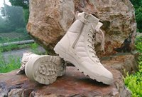 Wholesale White Rubber Combat Boots - New America Sport Army Men's Tactical Boots Desert Outdoor Hiking Boots Military Enthusiasts Marine Male Combat Shoes