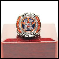 Wholesale Tin Ring Jewelry - Newest Men fashion sports jewelry 2017 Houston AStros Alt uve championship ring fans souvenir gift