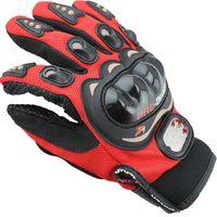 guantes para moto al por mayor-Envío gratis deportes al aire libre caballero dedo caballero moto motocicleta guantes 3D malla transpirable hombres hombres cuero locomotora guante