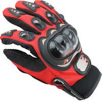 gants pour moto achat en gros de-Livraison Gratuite Sports de Plein Air doigt plein chevalier moto Moto Gants 3D Respirant Maille Tissu hommes En Cuir Locomotive Gant