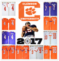 Wholesale Scott Yellow Jersey - NEW NCAA PATCH Clemson Tigers College DeShaun Watson Mike Williams Boulware Scott Gallman II 2017 STITCHED JERSEY FOOTBALL HOT