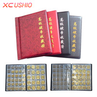 Wholesale money doors - Wholesale- Coins Collection Book Opening Stock 250 Coin Pocket Money Penny Storage Bag Collection Album Collect Coin Album Coin Holder