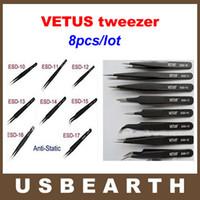 Wholesale Best Esd - free shipping 8pcs lot bga antistatic tweezers for bga repair,best price bga accessories, tweezer VETUS tweezers esd tweezer