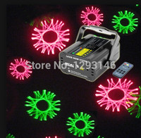 Wholesale Red Laser Kaleidoscope - Wholesale-led stage lighting disco light led party lights Mini Remote Manual&Sound Green Red RG Gyro Kaleidoscope Laser Stage lighting