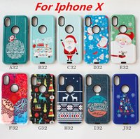 Wholesale Iphone Snowman - Christmas Phone Case For iphone X 8 PLUS For samsung galaxy note 8 case Xmas Gift Supply Santa Snowman Present Supplies C