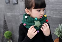 Wholesale Lovely Baby Shawls - 2017 winter warm new cute kawai lovely children baby thick warm Plush infant boys scarf shawl Ring