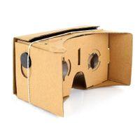 Wholesale Helmet Google - DIY VR Box Google Cardboard Boxes 3D Glasses Helmet VR BOX Headset For Smartphone 3.5 inch ~ 6 inch