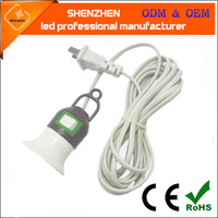 ingrosso cavo cavo bianco-Tipo di sospensione portacavi Cavo a 3 metri spina a due fasi E27 lampada a sospensione a vite con interruttore