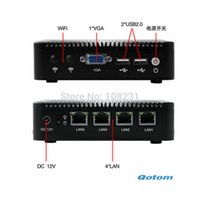 Wholesale X86 Mini Pc - Wholesale-VGA Mini PC with 4 LAN port apply to Firewall and Router, Bay Trail j1900 low power consumption 10W, X86 Mini PC 12V
