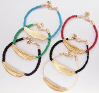 Wholesale Alex Ani Feather - 2015 handmade leaf bangles Women Charms Alex&Ani Plume Feather Bracelet Vintage gold Alex and Ani Bracelets Bangles pulseras Christmas Gifts